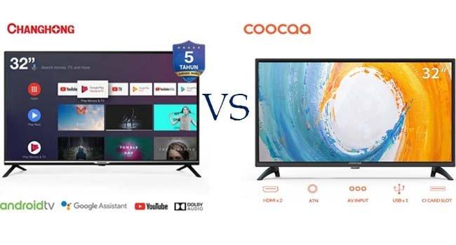 perbandingan tv changhong dan coocaa