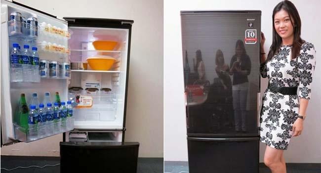 cara mengatur suhu freezer aqua