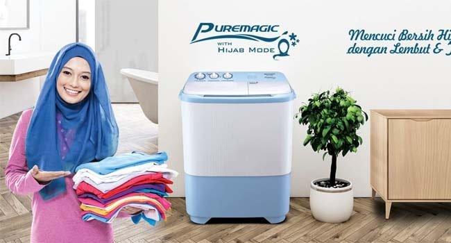 cara menggunakan mesin cuci sharp puremagic